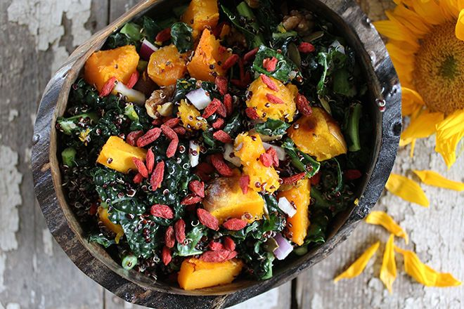 Fall Harvest Superfood Salad