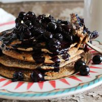 Simply Oat Pancakes & Blueberry Compote