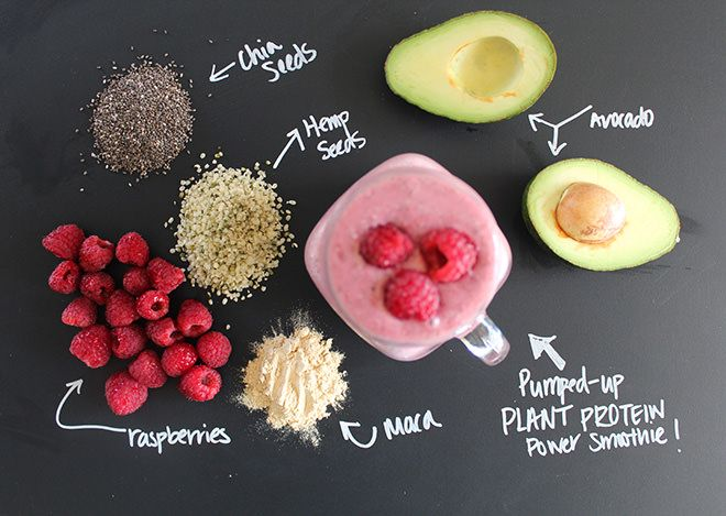 Pumped-up Plant Protein Power Smoothie | nutritionstripped.com