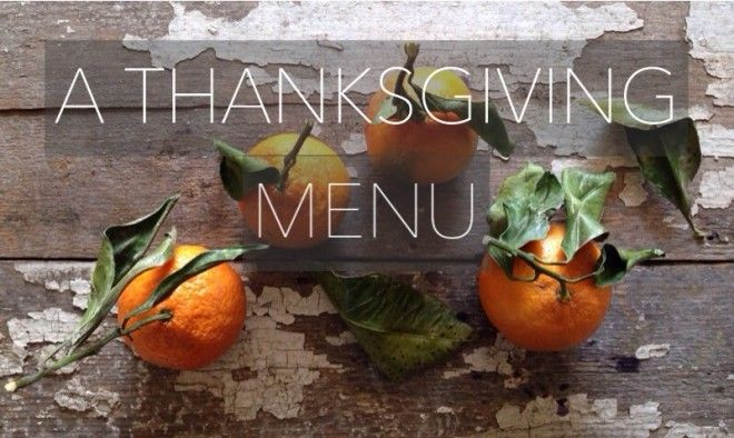 A Thanksgiving Menu | nutritionstripped.com