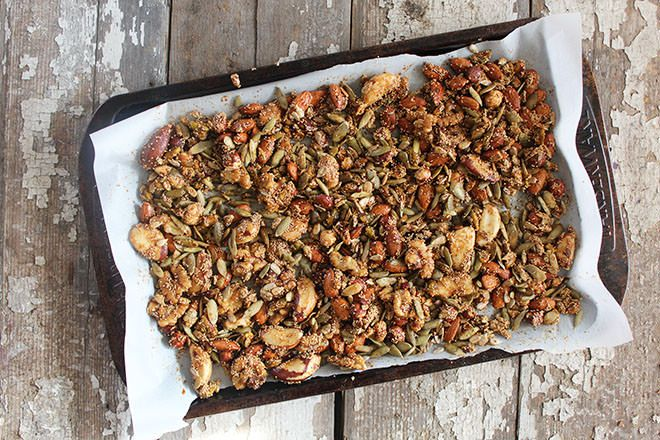 Spicy Sweet Nut & Seed Mix | nutritionstripped.com