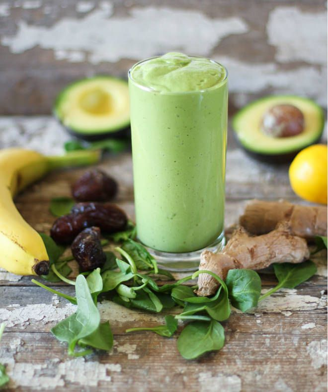 Creamy Ginger Green Smoothie // nutritionstripped.com