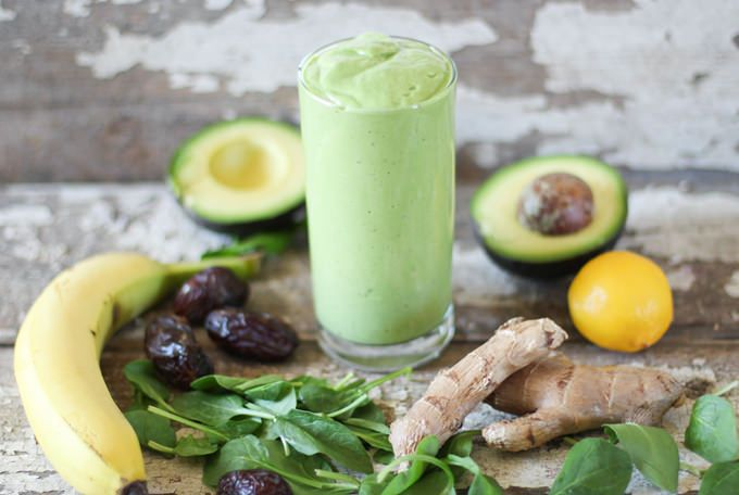 blended green smoothie