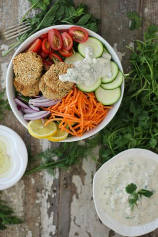 Herb Falafel and Tzatziki {vegan} // nutritionstripped.com