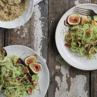 Fig Zucchini Pasta with Hemp Seed Crumble