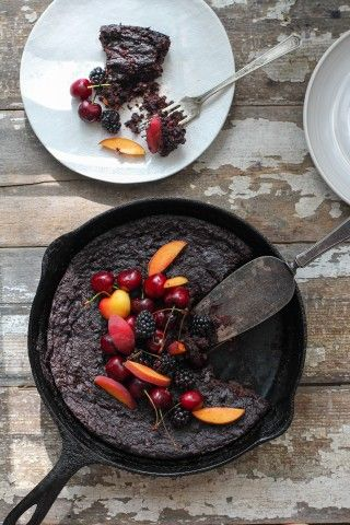 Flourless Blackberry Chocolate Cake Blackberries Cherries Peaches