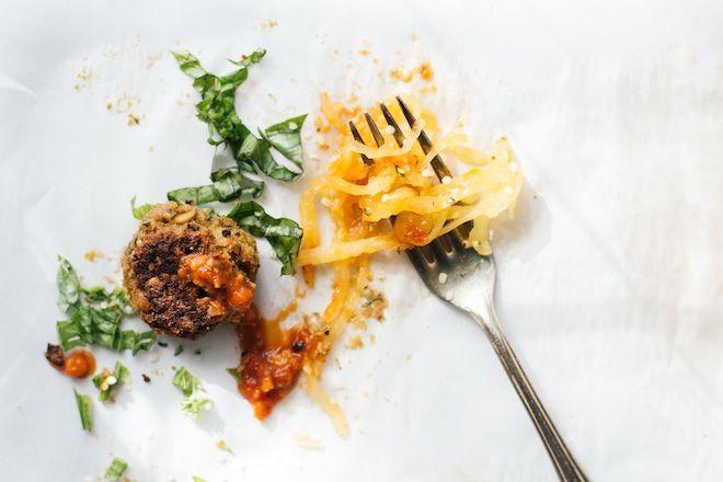 Spaghetti Squash and Chickpea Meatballs | Nutrition Stripped