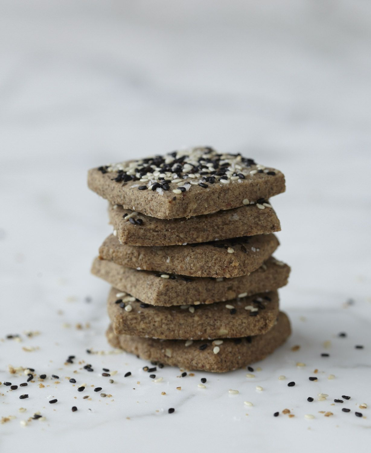 Sesame Shortbread Cookies | Nutrition Stripped