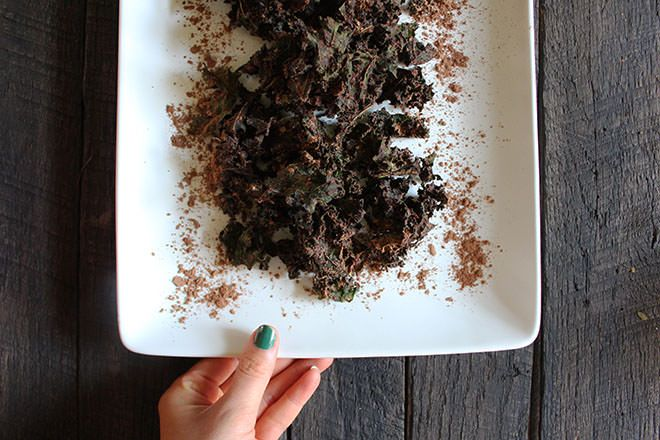 kale chips recipe cocoa powder Chocolate Cocoa Kale Chips