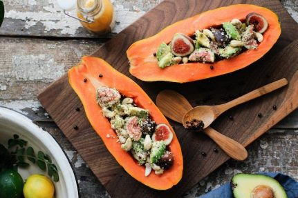 Beachy Papaya Boats | Nutrition Stripped