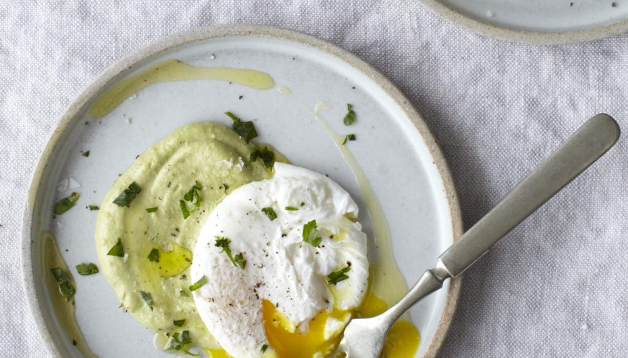 Poached Egg Plate with Olive Butter | Nutrition Stripped
