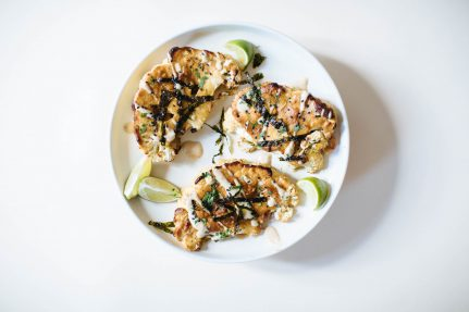 Tahini Miso Covered Cauliflower Steaks | Nutrition Stripped