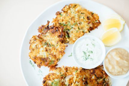 Crispy Zucchini Potato Pancakes | Nutrition Stripped